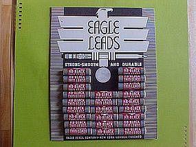 EAGLE PENCIL LEADS W/ DISPLAY BOARD 1936