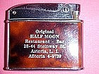 1950's CIGARETTE LIGHTER ORIGINAL HALF MOON RESTAURANT