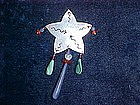 CONTEMPORARY AMERICAN INDIAN STERLING SILVER STAR PIN