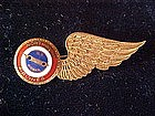 NORTHWEST AIRLINES STEWARDESS WINGS/U.S.  AIRMAIL 1950s