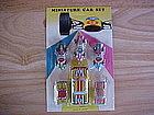 MINIATURE TIN LITHO RACING CAR SET MADE IN JAPAN 1970'S