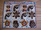 LONE RANGER & WESTERN BADGE SET MADE IN JAPAN BY KTS