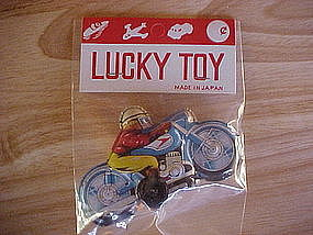 TIN LITHO FRICTION MOTORCYCLE TOY MADE IN JAPAN