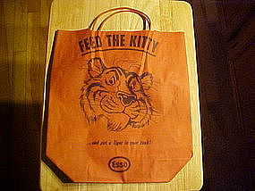 ESSO GASOLINE TIGER FEED THE KITTY HALLOWEEN BAG