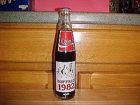 COMMEMORATIVE COKE BOTTLE BUFFALO NY 1832-1982