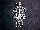 HANDCRAFTED STERLING SILVER PIN W/ FIVE ROSES