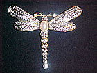 DRAGONFLY PIN WITH RHINESTONES & FAUX PEARL