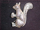 STERLING SQUIRREL W/ ACORN PIN BY FELCH & CO. DANECRAFT