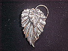 DANECRAFT STERLING SILVER DOUBLE LEAF PIN 1950's