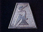 SILVER PRE COLUMBIAN DESIGN 2 HEADED BIRD MYSTICAL PIN