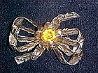 HOBE RETRO STERLING & 14k GOLD BROOCH 1940'S