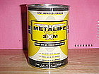 METALIFE OIL CAN BANK PETROLIUM ADDITIVE 1950's