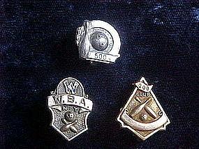 VINTAGE 200 & 500 CLUB & W.B.A BOWLERS AWARD PINS