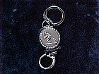 VINTAGE BASEBALL COMBO KEY CHAIN & PHOTOGRAPH LOCKET