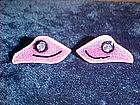 VINTAGE ENAMEL ON COPPER SCREW BACK EARRINGS