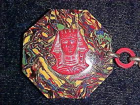 VINTAGE EGYPTIAN REVIVAL ART DECO LADIES CELLULOID BELT