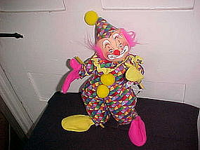 "ANNALEE DOLL 12"" CLOWN CLOSE MOUTH SMILING FACE"