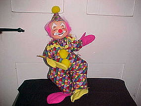 "ANNALEE DOLL 12"" CLOWN CLOSED EYES OPEN MOUTH"