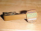 VINTAGE BURLINGTON FEDERAL SAVINGS & LOAN TIE CLIP 5YR