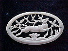 VICTORIAN CARVED BONE STAG/REINDEER BROOCH