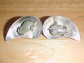 VINTAGE TAXCO STERLING SILVER DECO EARRINGS