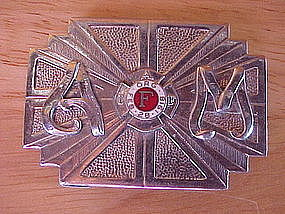 VINTAGE FIRE DEPARTMENT BELT BUCKLE INITIALS A & M