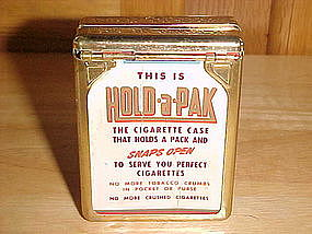 VINTAGE HOLD-A-PACK CIGARETTE CASE CHESTERFIELD