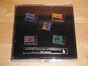 1996 OLYMPIC PINS SUMMER GAMES ATLANTA SWIMMING
