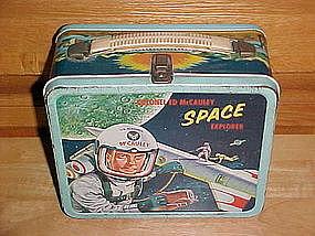 COLONEL ED McCAULEY SPACE EXPLORER LUNCH BOX ALADDIN