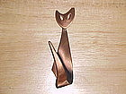 VINTAGE KIM COPPER CAT PIN/BROOCH