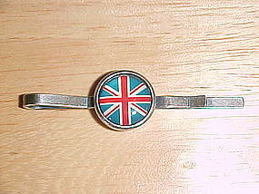 VINTAGE BRITISH UNION JACK FLAG TIE BAR/TIE CLIP