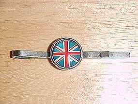 VINTAGE BRITISH UNION JACK FLAG TIE BAR/TIE CLIP
