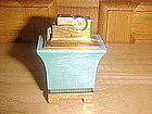 VINTAGE TURQUOISE A.S.R. TABLE CIGARETTE LIGHTER