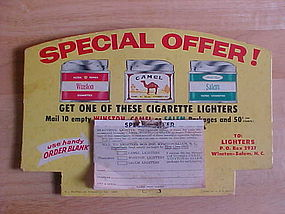 VINTAGE WINSTON CAMEL SALEM CIGARETTE LIGHTER DISPLAY