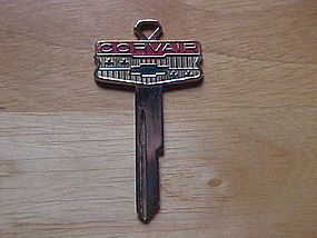 VINTAGE CHEVY BOW TIE CREST CORVAIR KEY BLANK