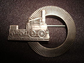 DELAWARE & HUDSON RAILROAD 150 YR ANNIVERSARY BROOCH