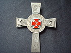 KNIGHTS TEMPLAR TOLEDO COMMANDERY SILVER PIN 19TH C.