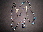 VINTAGE ITALIAN CARNIVAL GLASS ROSARY