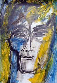 Laszlo Matulay Modernist Expressionist Mozart Portrait