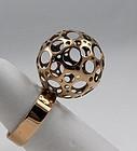 Liisa Vitali Modernist 14K Gold Ring Finland
