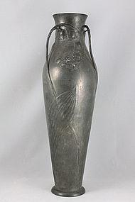 Kayserzinn Pewter Vase Art Nouveau Jugendstil