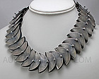 Mena Messina Post Modernist Sterling Necklace