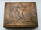 Rockwell Kent Bronze Box for Chase - 1935