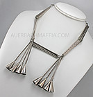 Peruvian Modernist Sterling Silver Necklace