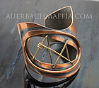Art Smith Modernist Copper & Brass Cuff Bracelet