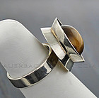 Kaunis Koru Modernist Sterling Ring - Finland 60's