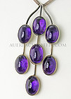 Just Andersen Sterling Amethyst Necklace Denmark