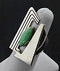 Sterling and Turquoise Ring - 1980's South Western USA