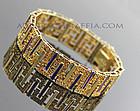 UnoAerre Italian Modernist 14K Gold Bracelet