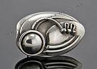 Maxwell Chayat Modernist Sterling Silver Brooch